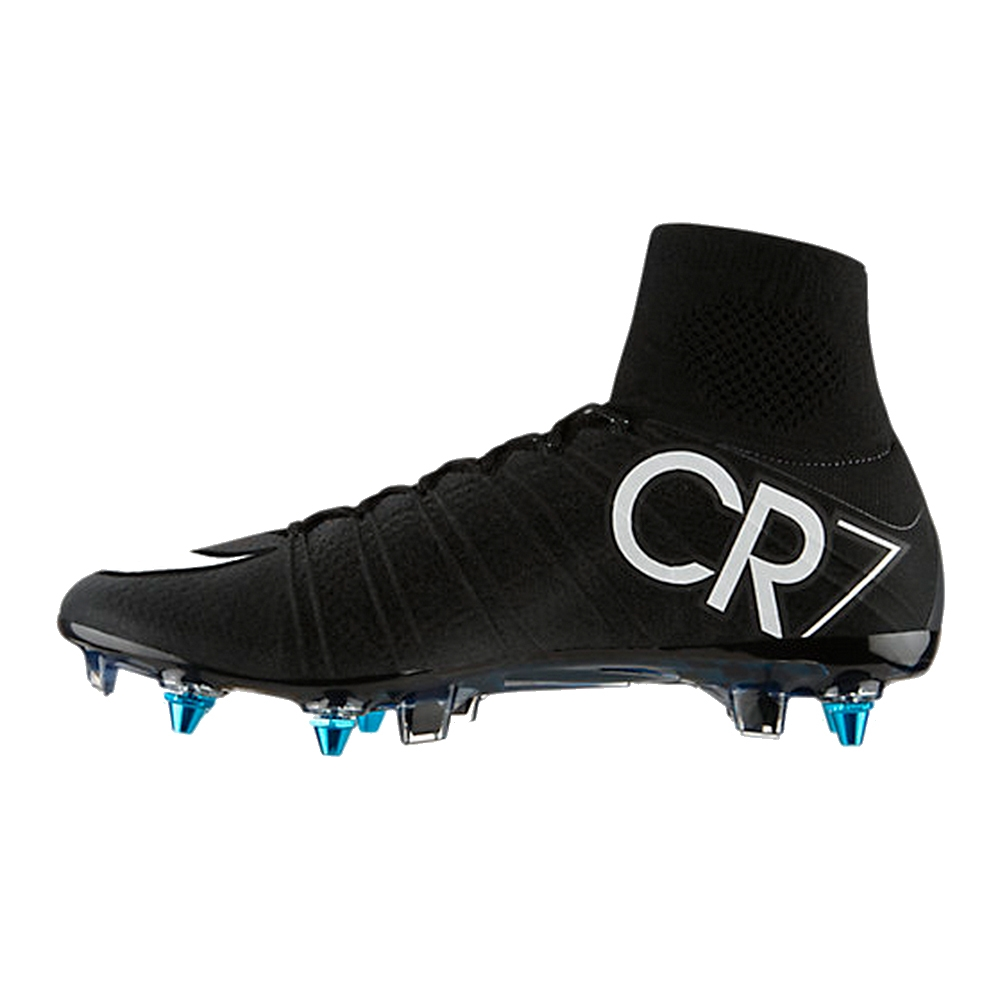 the latest 6e149 87fde Nike Mercurial SuperFly IV CR7 SG-Pro Soccer Cleats (Black Neo Turquoise  White)