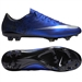 Nike Mercurial Vapor X CR7 FG Soccer Cleats (Deep Royal Blue/Racer Blue/Black/Metallic Silver)