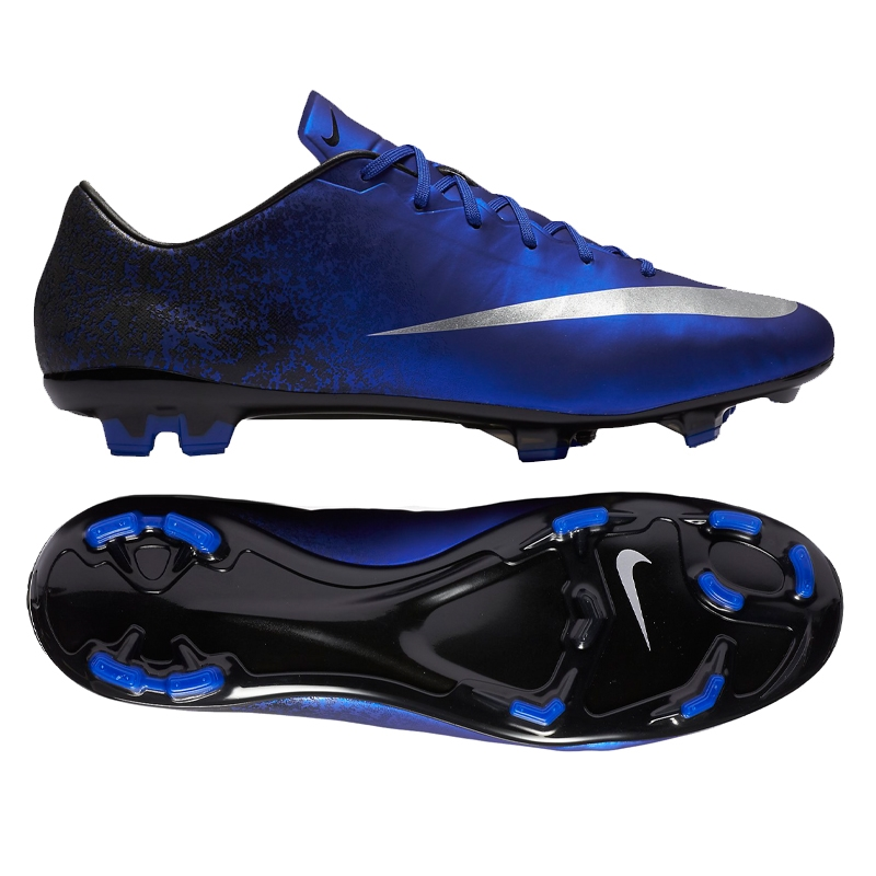 97ac8d80717 Nike Mercurial Veloce II CR7 FG Soccer Cleats (Deep Royal Blue Racer  Blue Black Metallic Silver)