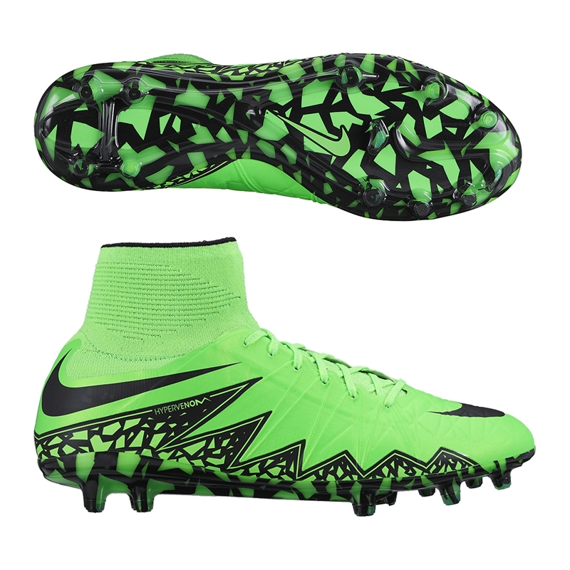 a6955fdc48a8 Hypervenom Phantom II FG Soccer Cleats (Green Strike Black)