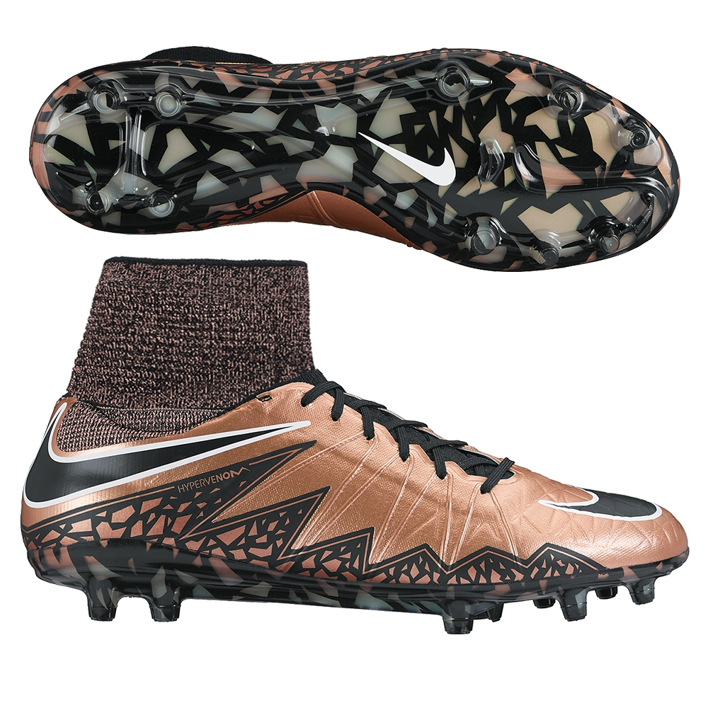 b450fa0f7edb Hypervenom Phantom II FG Soccer Cleats (Metallic Red Bronze/Green ...