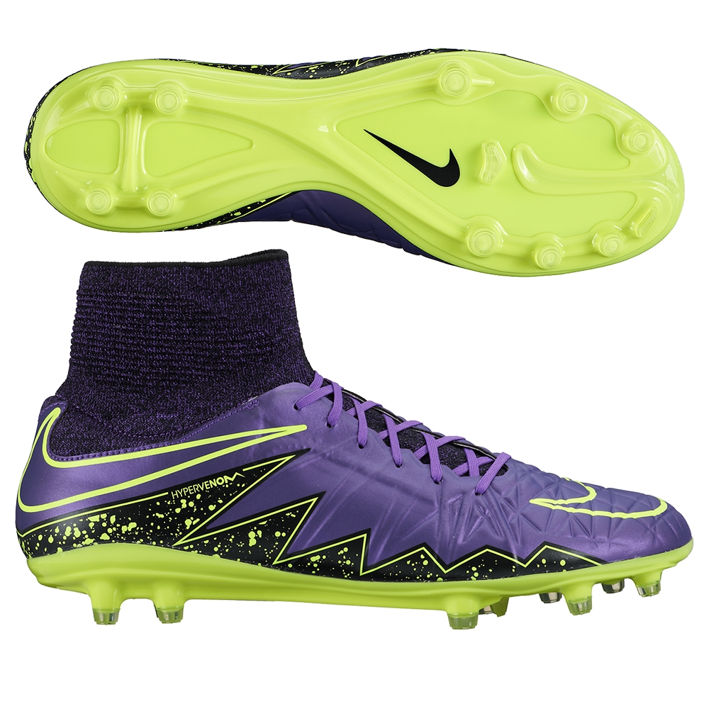 check out f1c4e c533f  169.99 Add to Cart for Price - Nike Hypervenom Phatal II DF FG Soccer  Cleats (Hyper Grape Black Volt)   747214-550  Nike Soccer Cleats    SOCCERCORNER.COM