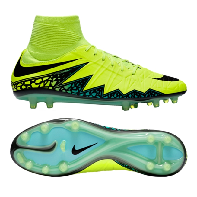 great fit release date the best Nike Hypervenom Phatal II DF FG Soccer Cleats (Volt/Hyper Turquoise/Clear  Jade)