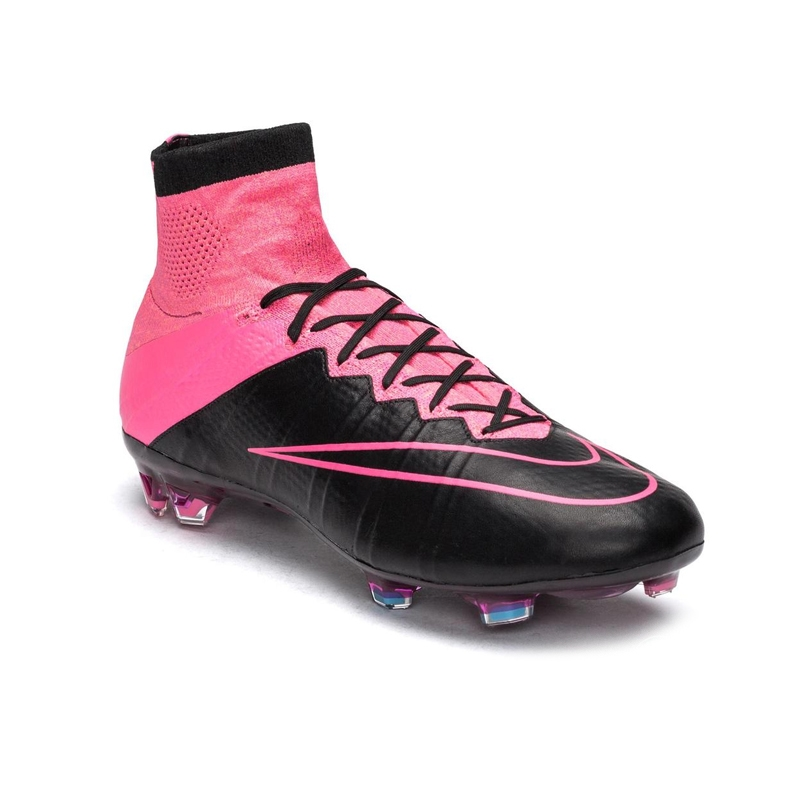 2847c040f Nike Mercurial SuperFly IV Tech Craft (Leather) FG Soccer Cleats (Black Hyper  Pink Pink ...