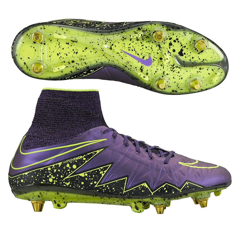 huge discount dc4d2 67e56 nike hypervenom 2 purple and green