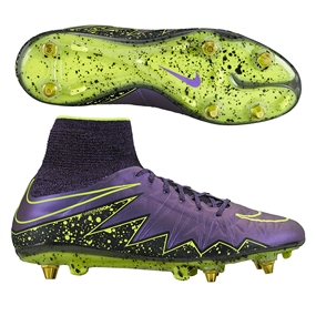 Nike Hypervenom Phantom II SG-Pro Soccer Cleats (Hyper Grape/Black/Volt)