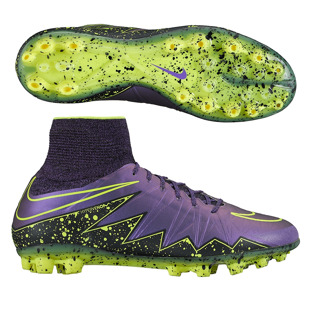 quality products good looking great quality Nike Hypervenom Phantom II AG-R Soccer Cleats (Hyper Grape/Black/Volt)