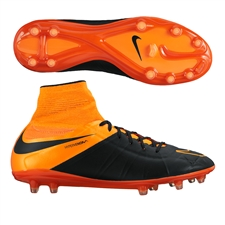 Nike Hypervenom Phantom II Tech Craft (Leather) FG Soccer Cleats (Black/Total Orange)