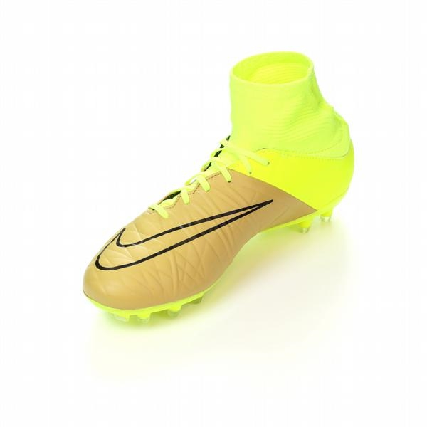 Nike Hypervenom Phatal II DF Tech Craft (Leather) FG Soccer Cleats (Canvas/ Volt/Black)
