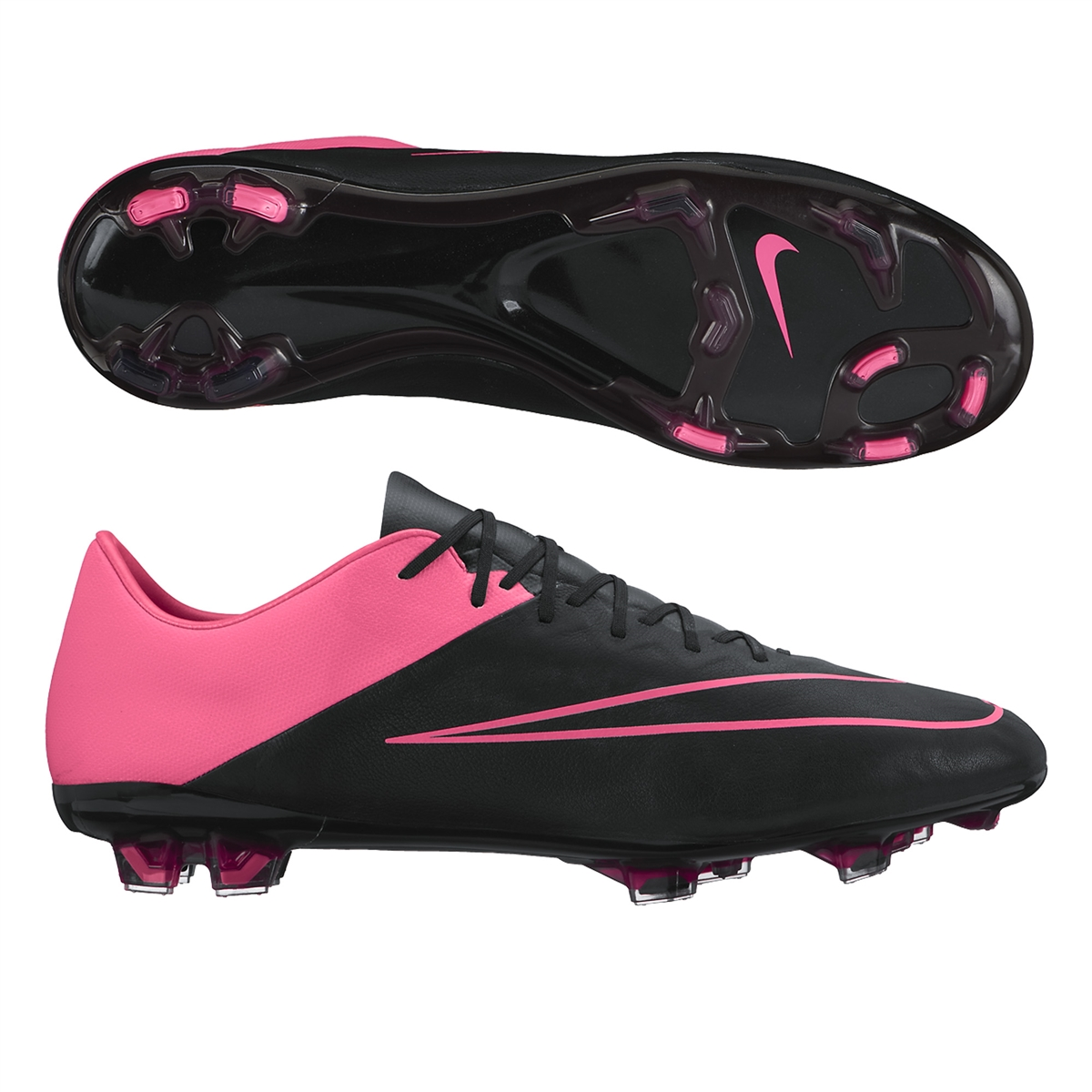c32c3f07418 Mercurial Vapor X Tech Craft (Leather) FG Soccer Cleats (Black Hyper ...