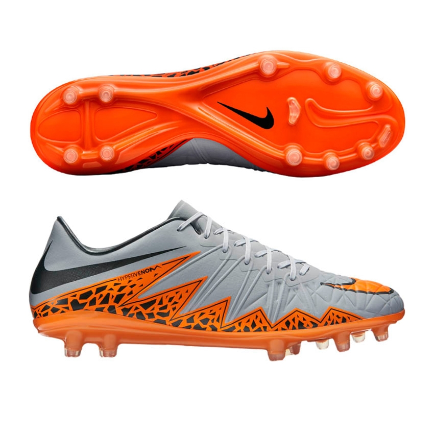 la moitié d3b19 16da0 Nike Hypervenom Phinish FG Soccer Cleats (Wolf Grey/Orange)
