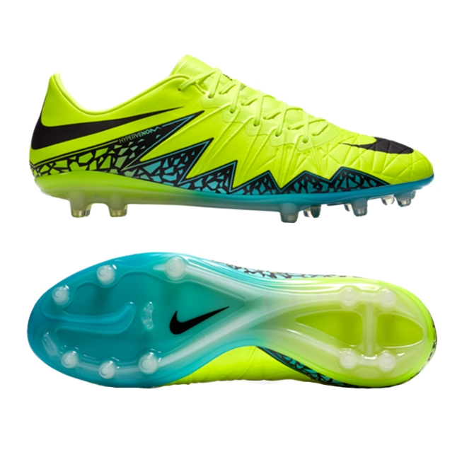 official photos 1b313 17948 Nike Hypervenom Phinish FG Soccer Cleats (Volt/Black/Hyper Turquoise/Clear  Jade)