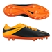 Nike Hypervenom Phinish  Tech Craft (Leather) FG Soccer Cleats (Black/Total Orange)