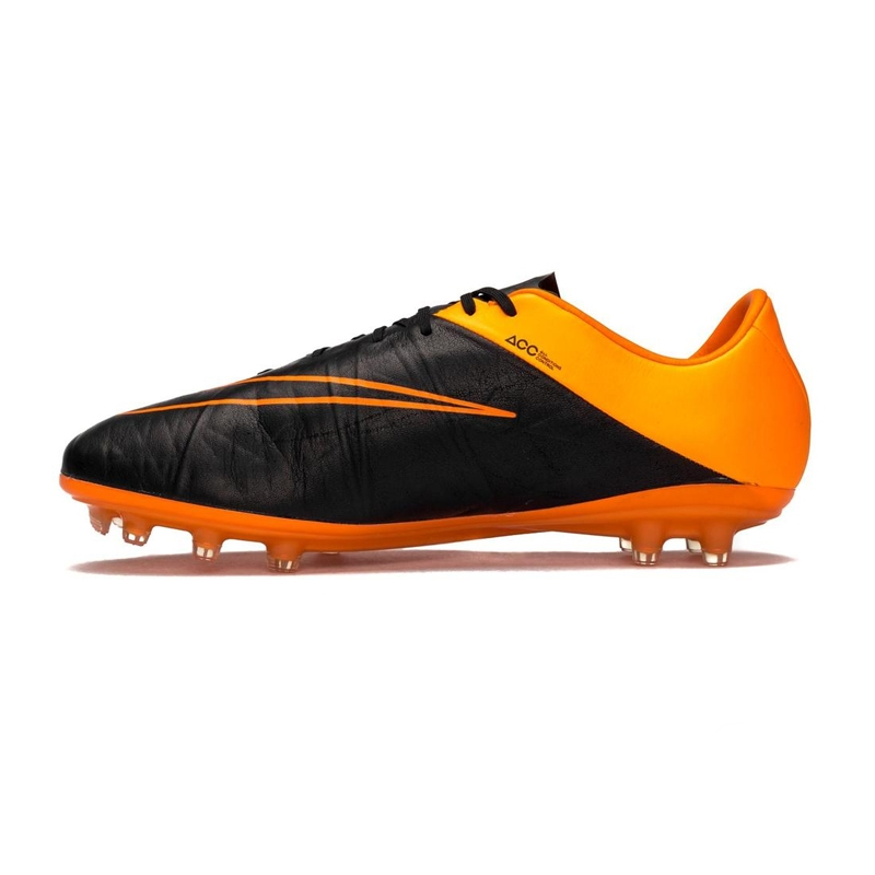826595e9733f Nike Hypervenom Phinish Tech Craft (Leather) FG Soccer Cleats (Black/Total  Orange)
