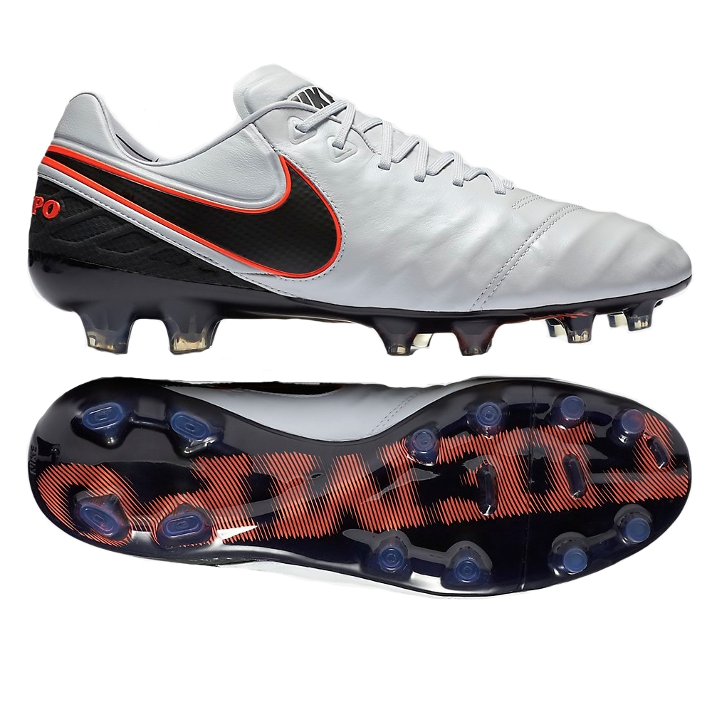 Nike Tiempo Legend VI FG Soccer Cleats (Pure Platinum/Metallic Silver/Black)