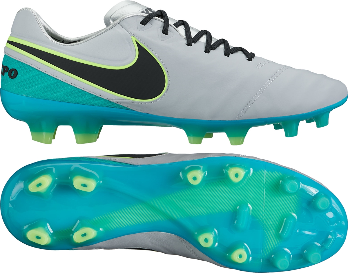 Nike Tiempo Legend VI FG Soccer Cleats (Wolf Grey/Black/Clear Jade/