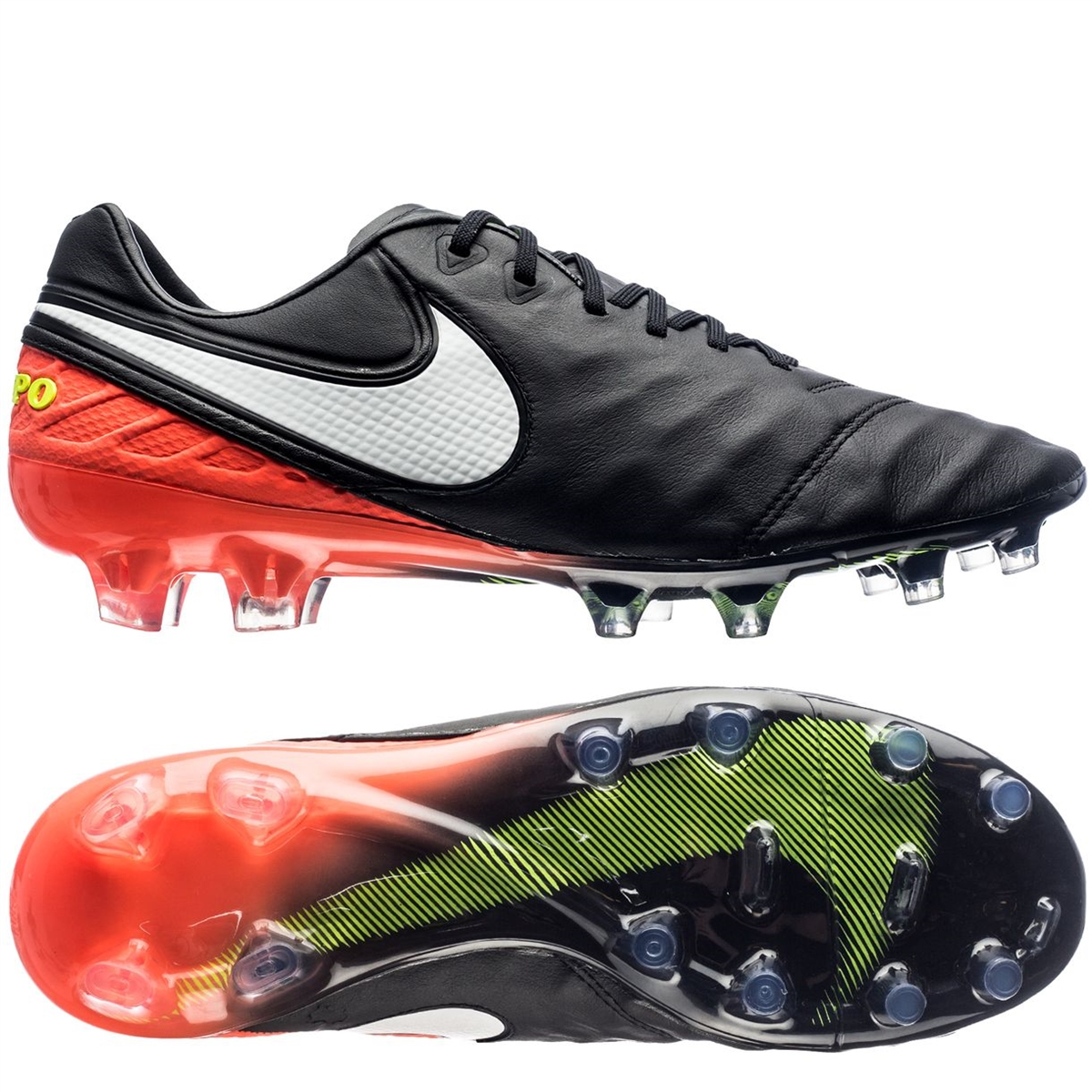 Nike Mens Soccer Shoes  - Nike Tiempo Legend VI SG-PRO Black/Black/White C17l9520