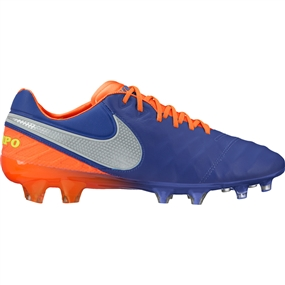 Nike Tiempo Legend VI FG Soccer Cleats (Deep Royal Blue/Chrome/Total Crimson)