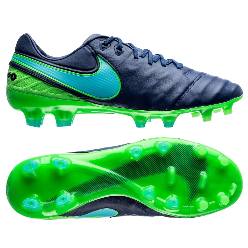best service c5bfd 2a301 Nike Tiempo Legend VI FG Soccer Cleats (Coastal Blue/Polarized Blue/Rage  Green)