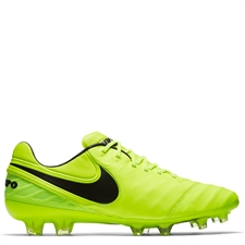 Nike Tiempo Legend VI FG Soccer Cleats (Volt/Black)