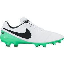Nike Tiempo Legacy II FG Soccer Cleats (White/Black/Electro Green)