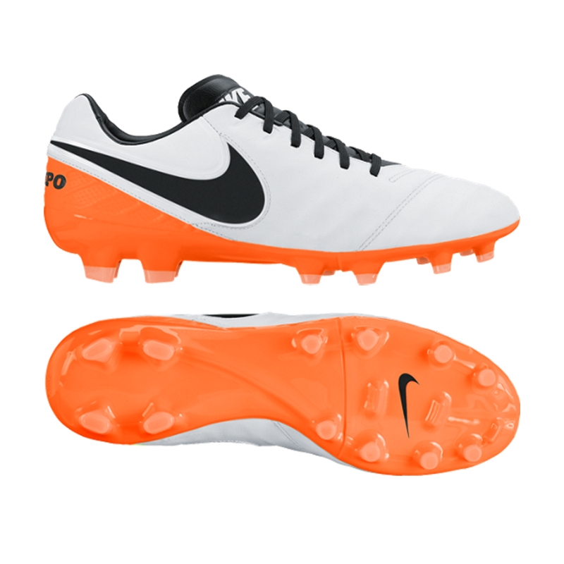 info for 9cd1f 741e0 Nike Tiempo Legacy II FG Soccer Cleats (White/Total Orange/Black)