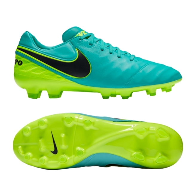 5082fe250 Nike Tiempo Legacy II FG Soccer Cleats (Clear Jade Black Volt ...