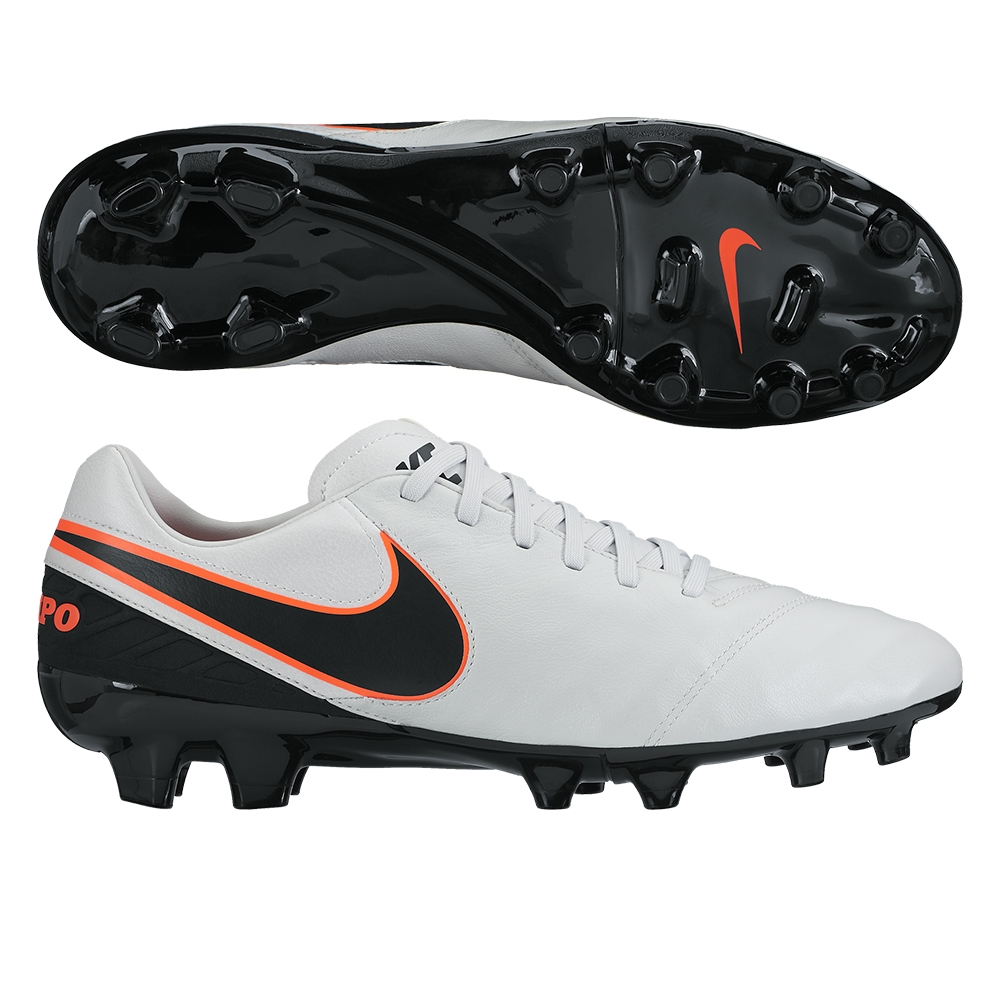 Nike Tiempo Mystic V FG Soccer Cleats Pure PlatinumBlack