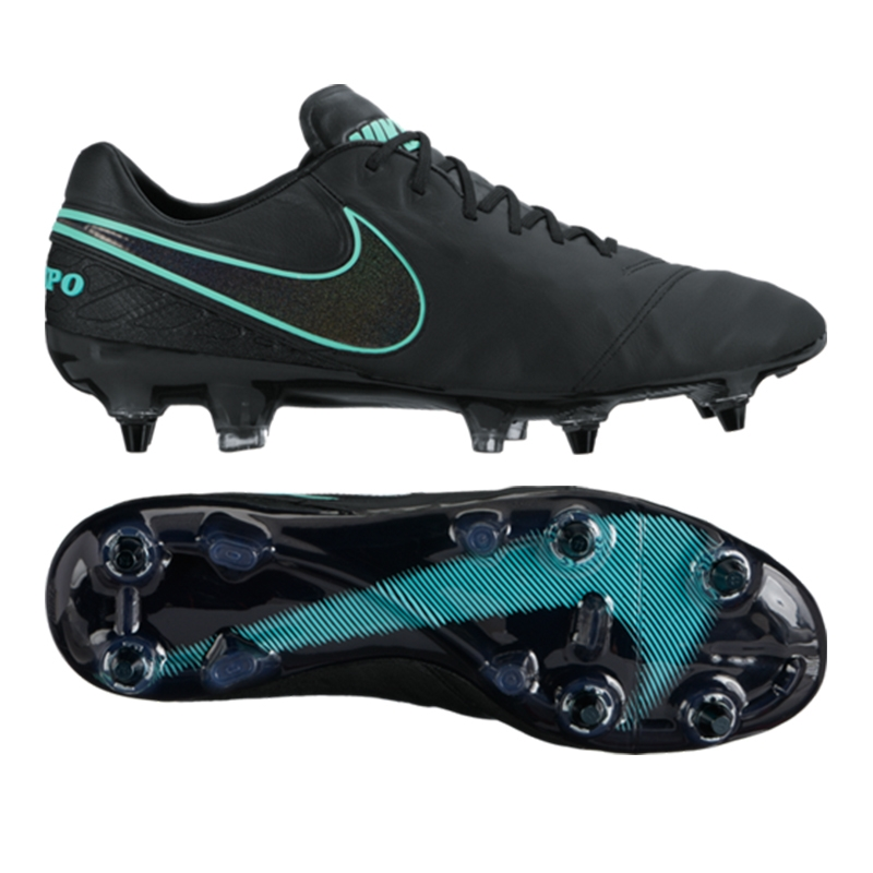 cheap for discount 94464 b0c08 Nike Tiempo Legend VI SG-Pro Soccer Cleats (Black/Black)
