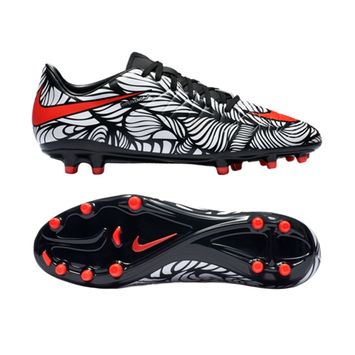9c31b8c9c Nike Neymar Hypervenom Phelon II FG Soccer Cleats (Black White Bright  Crimson) Nike Soccer Cleats