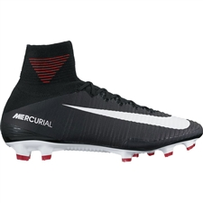 Nike Mercurial SuperFly V FG Soccer Cleats (Black/White/Dark Grey)