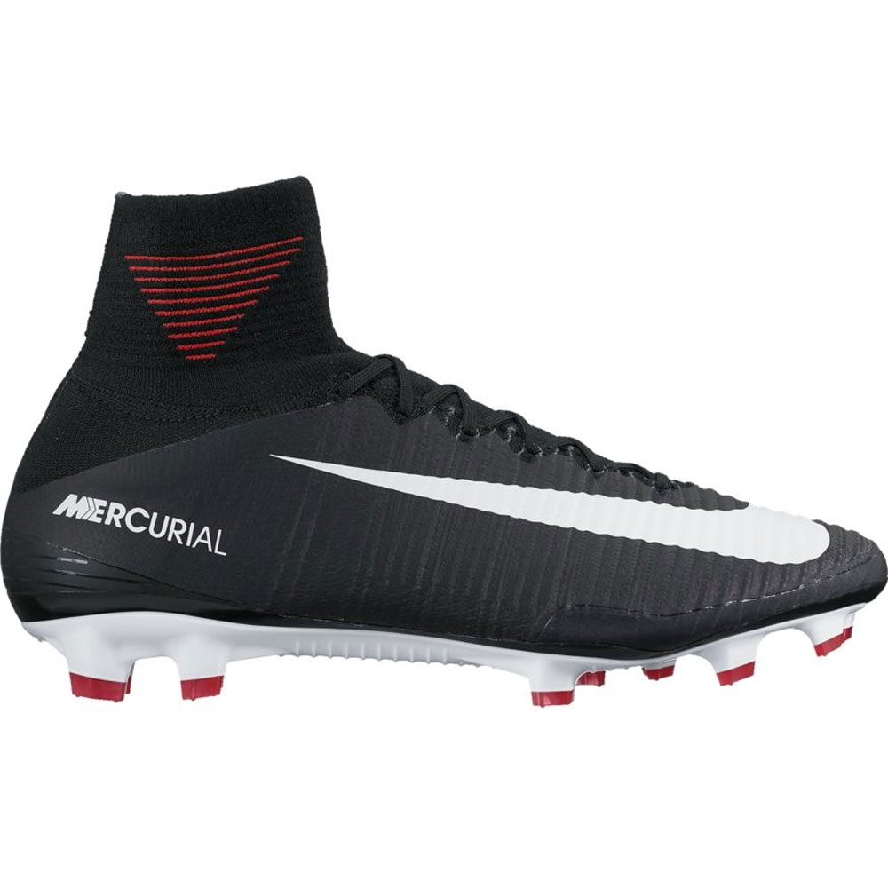 Nike Mercurial SuperFly V FG Soccer Cleats BlackWhiteDark Grey