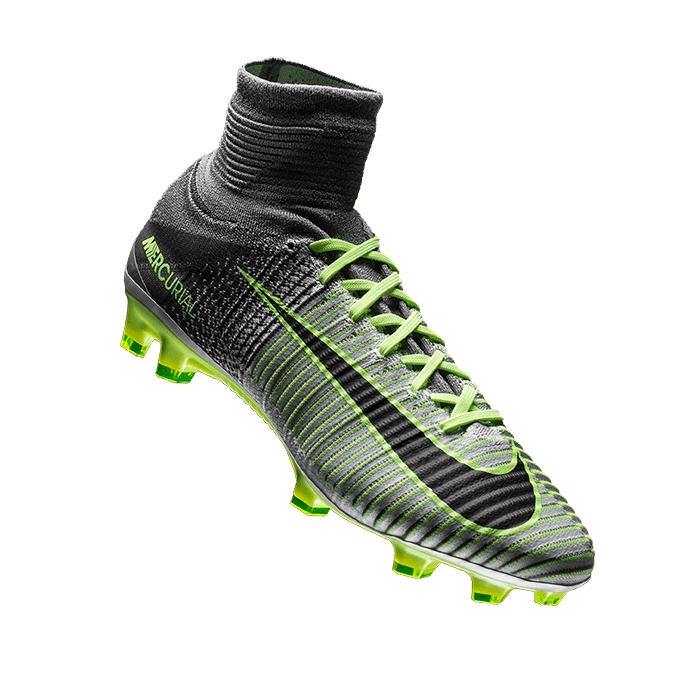 cheap for discount 08b02 b033a Nike Mercurial SuperFly V FG Soccer Cleats (Pure Platinum Black Ghost Green)  ...