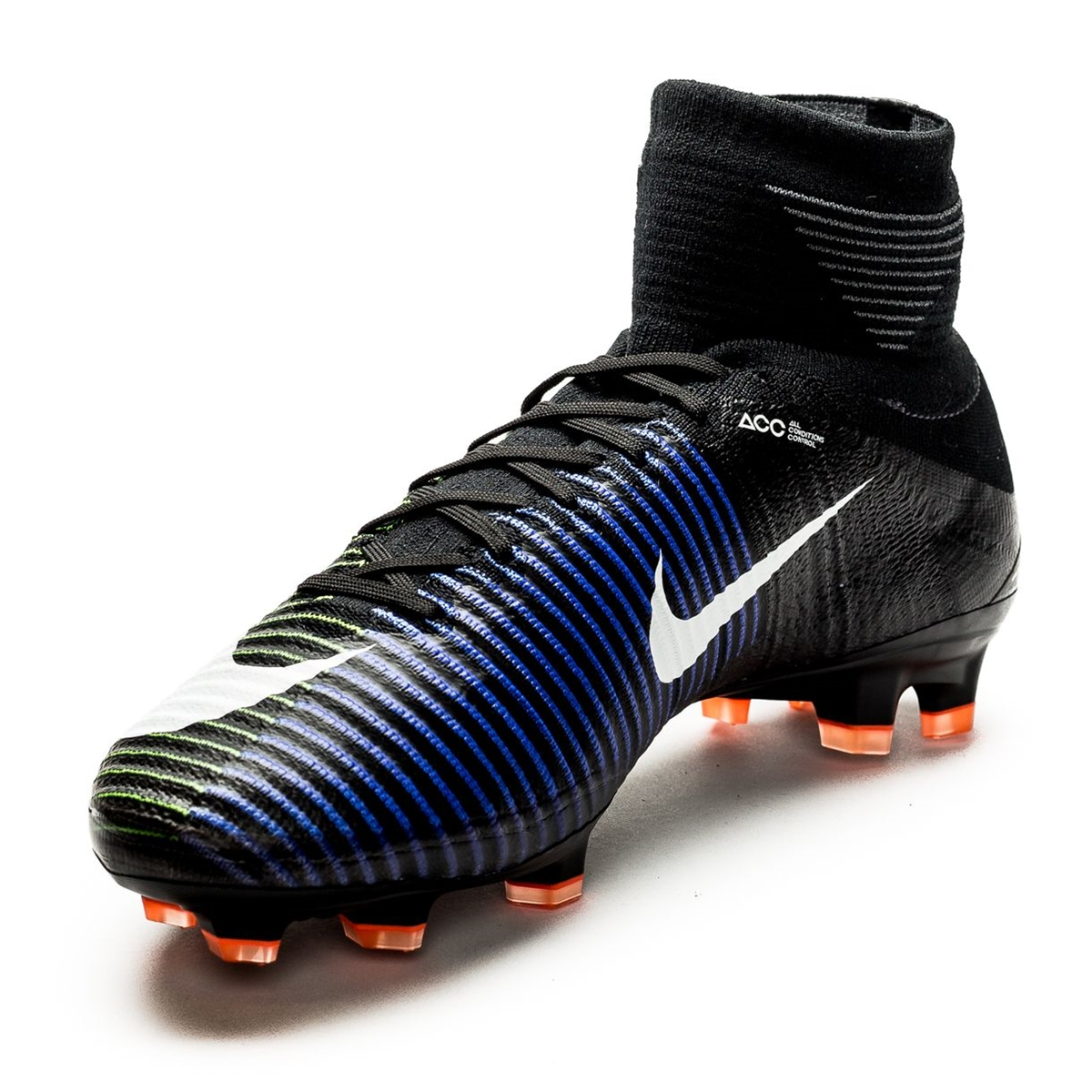 40fabc09b Nike Mercurial SuperFly V FG Soccer Cleats (Black White Electric ...