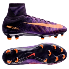 Nike Mercurial SuperFly V FG Soccer Cleats (Purple Dynasty/Bright Citrus/Hyper Grape)