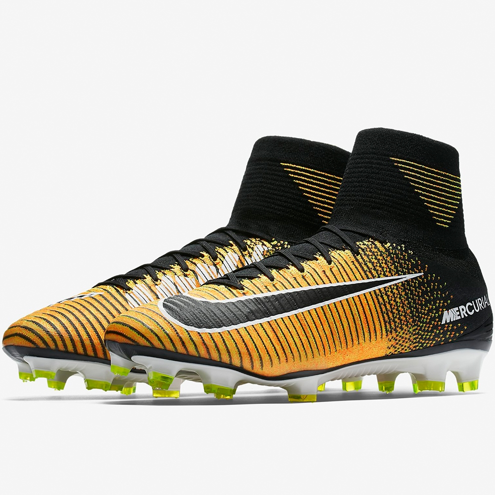 new arrival 0405f fac93 Nike Mercurial SuperFly V FG Soccer Cleats (Laser Orange/Black/White/Volt)