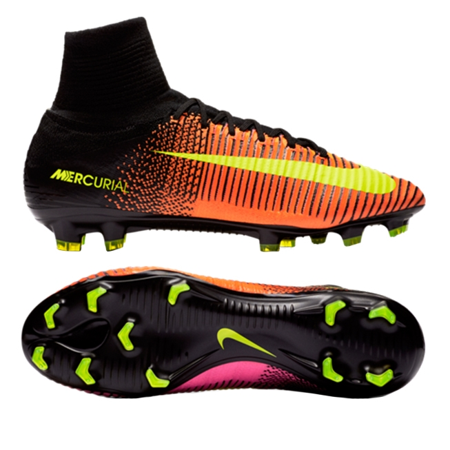 b81dfac397d Nike Mercurial SuperFly V FG Soccer Cleats (Total Crimson/Volt/Black/Pink  Blast)