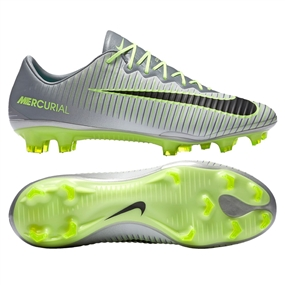 Nike Mercurial Vapor XI FG Soccer Cleats (Pure Platinum/Black/Ghost Green)