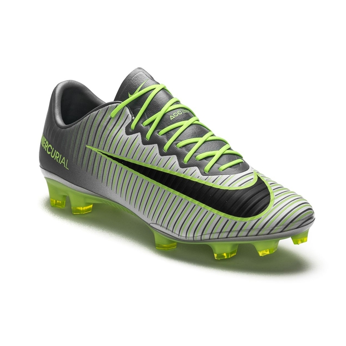 a2db78758 Nike Mercurial Vapor XI FG Soccer Cleats (Pure Platinum Black Ghost Green)