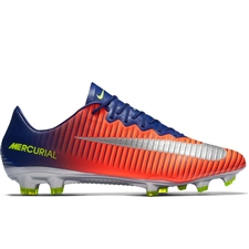 Nike Mercurial Vapor XI FG Soccer Cleats (Deep Royal Blue/Chrome/Total Crimson)