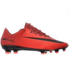 Nike Mercurial Vapor XI FG Soccer Cleats (University Red/Black/Bright Crimson)