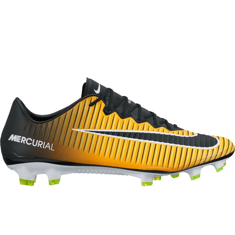 Nike Mercurial Vapor XI FG Soccer Cleats (Laser Orange Black White Volt 86e40ad12aa6