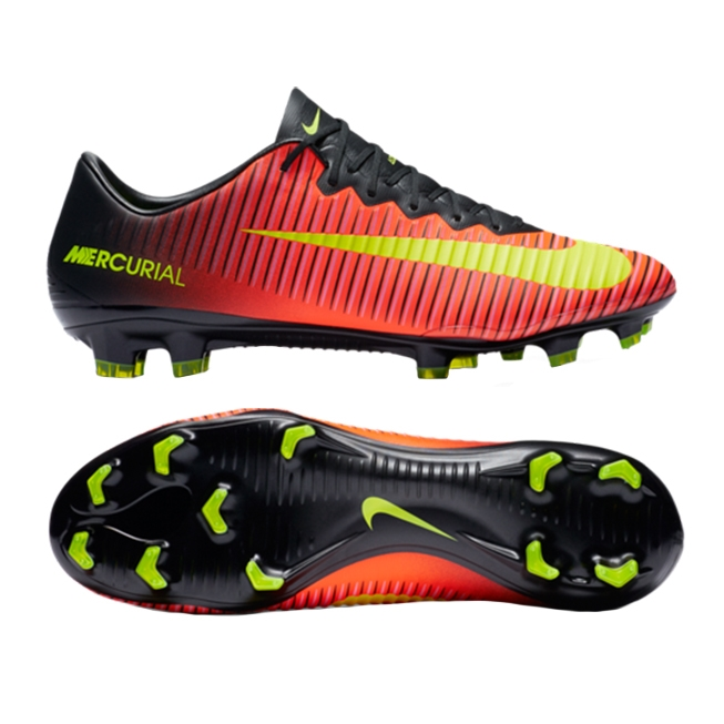06ee360b296c23 Nike Mercurial Vapor XI FG Soccer Cleats (Total Crimson Volt Black ...