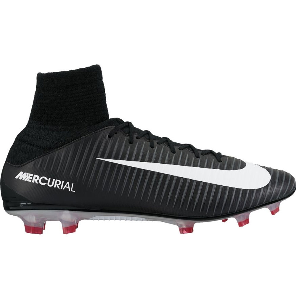Nike Mercurial Veloce III DF FG Soccer Cleats (Black White Dark Grey ... 5b4ec92c03c2
