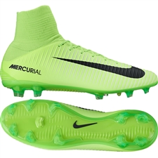 Nike Mercurial Veloce III DF FG Soccer Cleats (Electric Green/Black/Flash Lime/White)