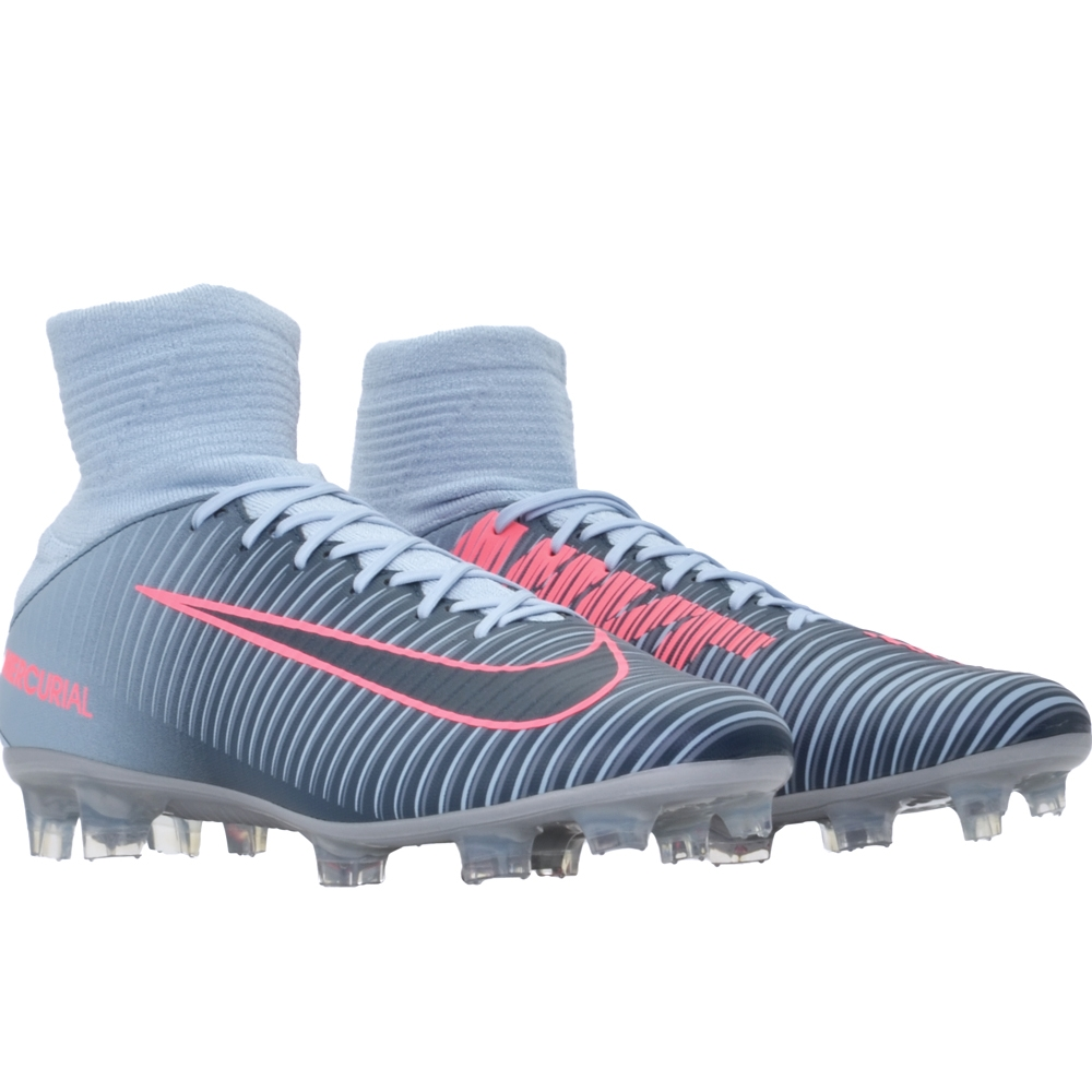 Nike Mercurial Veloce III DF FG Soccer Cleats (Light Armory Blue ... 8a62d0f34