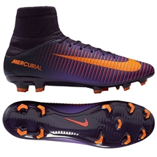 Nike Mercurial Veloce III FG Soccer Cleats (Purple Dynasty/Bright Citrus/Hyper Grape)