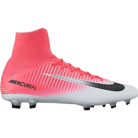 Nike Mercurial Veloce III DF FG Soccer Cleats (Racer Pink/Black/White)