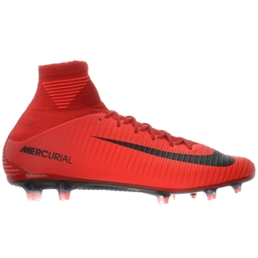 Nike Mercurial Veloce III DF FG Soccer Cleats (University Red/Black/Bright Crimson)