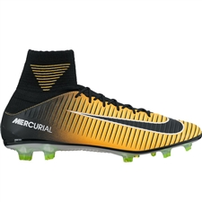 Nike Mercurial Veloce III DF FG Soccer Cleats (Laser Orange/Black/White/Volt)